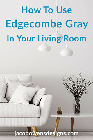 picture of living room with walls painted edgecombe gray
