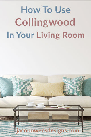 living room painted with collingwood by benjamin moore
