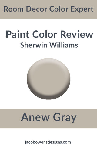 Sherwin Williams Anew Gray Color Review Paint Sample