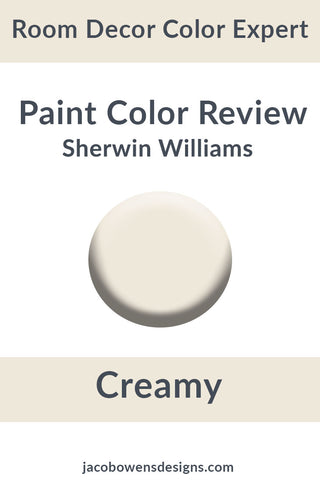 Picture of a paint sample by sherwin williams called Creamy