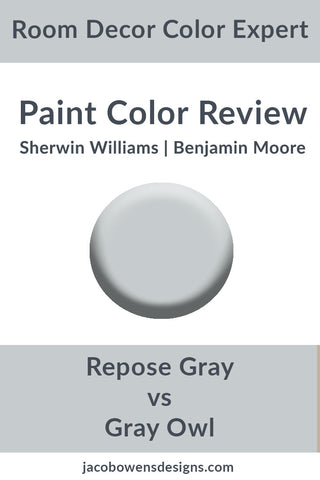 Sherwin Williams Repose Gray vs Benjamin Moore Gray Owl Color Review