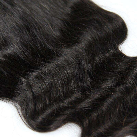 Lace Closure 7x7<br>Couleur Naturelle | Ondulé | Virgin<br>Tissage Brésilien