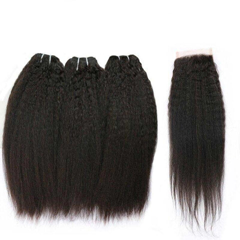 Tissage et Lace Kinky Straight Avant
