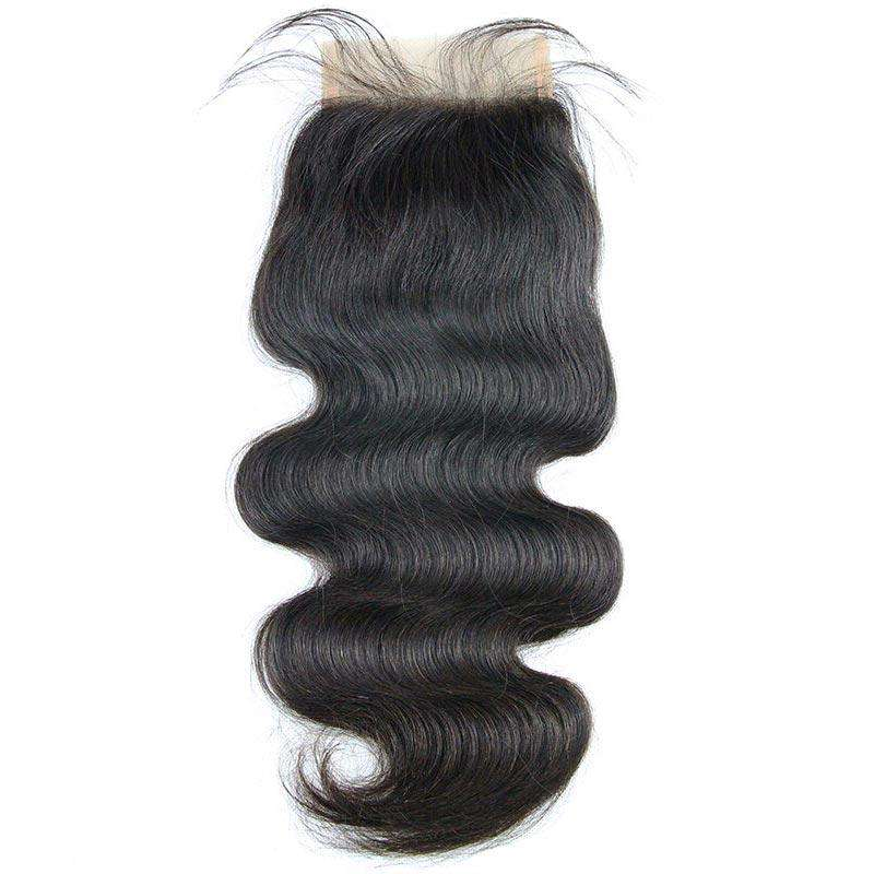 Lace Closure 4x4<br>Couleur Naturelle | Ondulé | Virgin<br>Tissage Brésilien