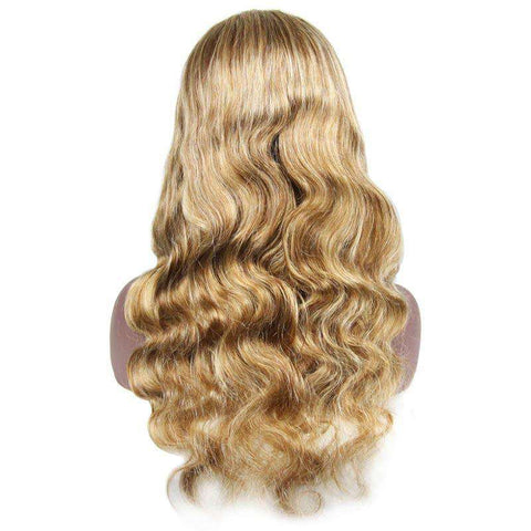 "Full Lace Wig Blonde Human Hair <br> Virgin | Brésilien <br> 4""x4"" 