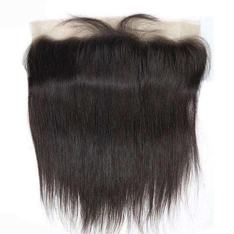 "Lace Frontal Tissage Naturel <br> Forme Lisse, Virgin Hair et Tissage Brésilien <br> Dentelle 13""x 4"""