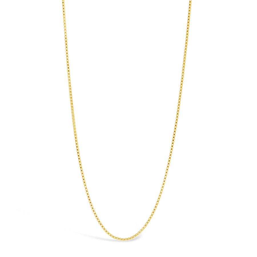 12k 18in Women's Dainty Box Chain Necklace - Dainty & Co. Jewelry