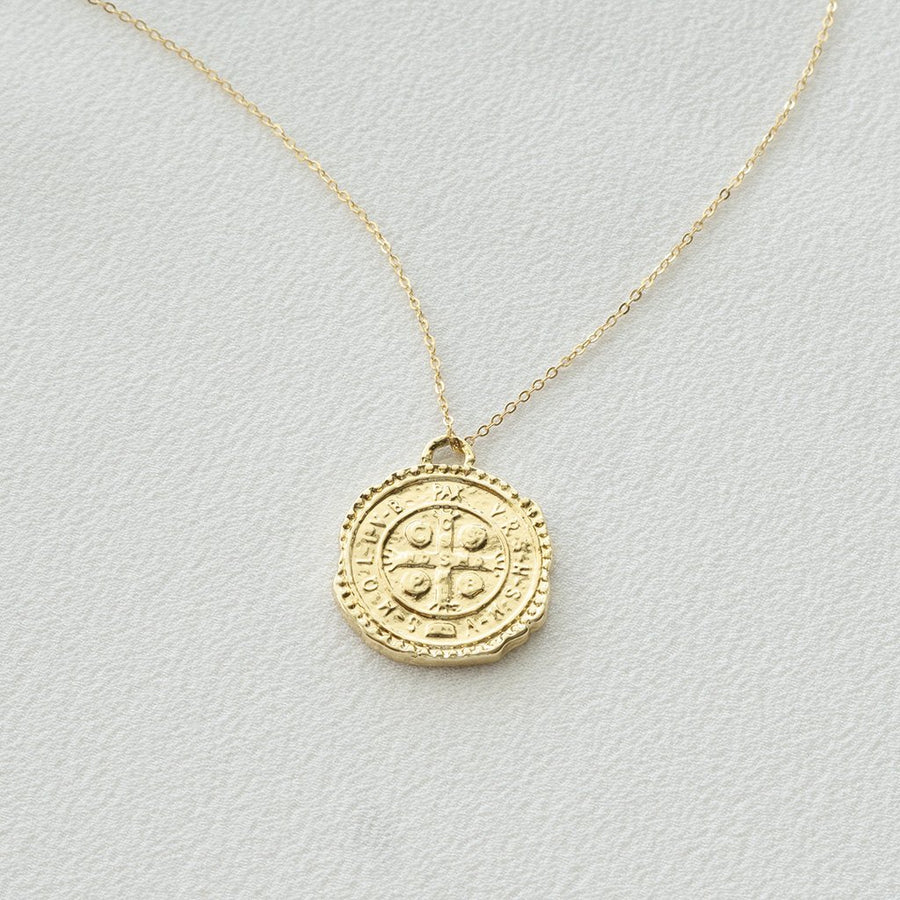 Cross Coin Necklace - Dainty & Co. Jewelry