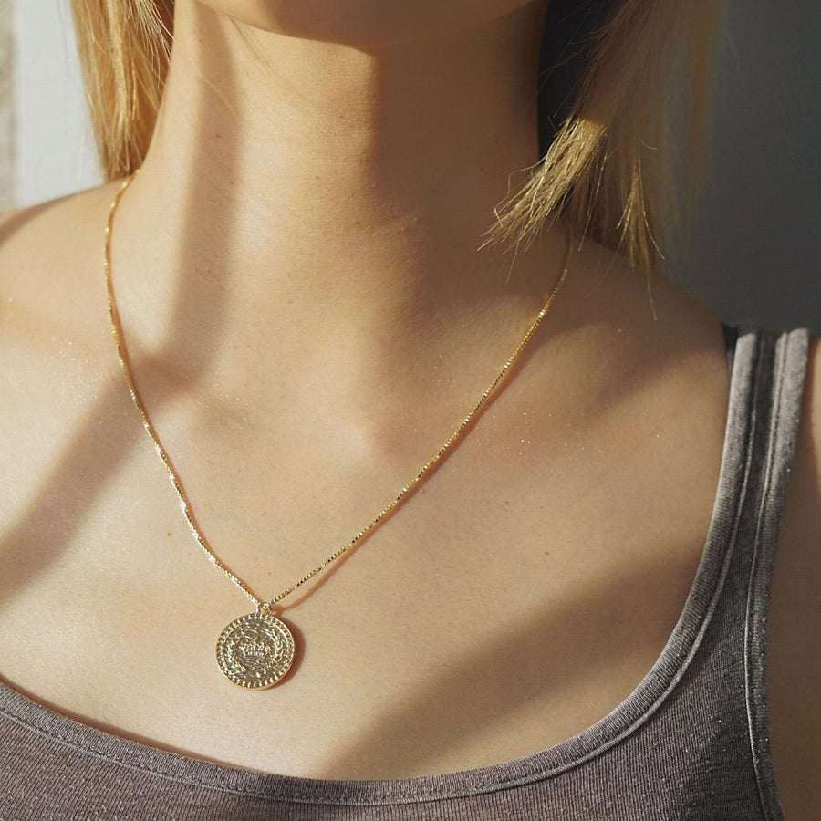 Crown Coin Necklace - Dainty & Co. Jewelry