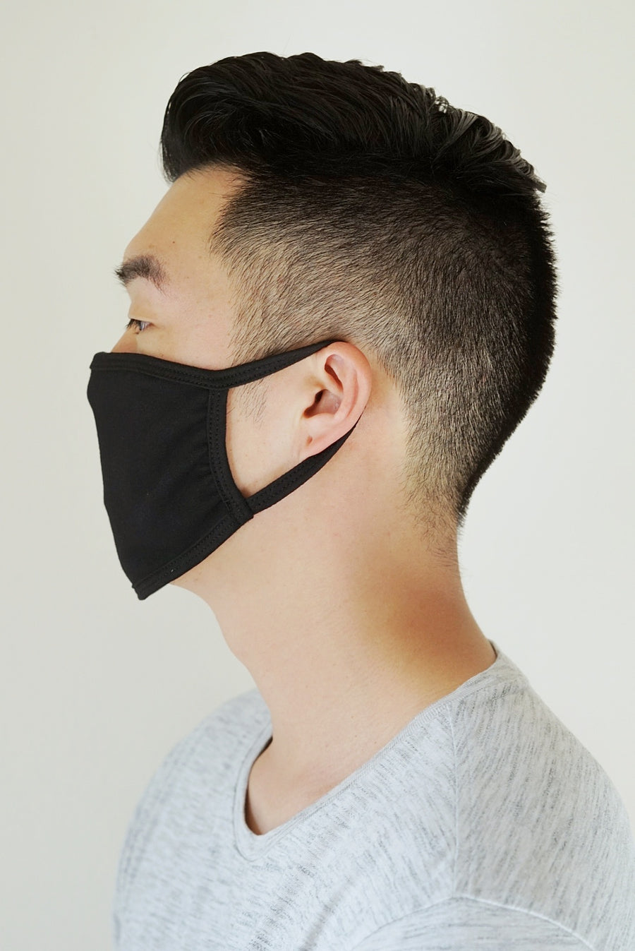 Black Double-Layered Handmade Cotton Cloth Face Masks - Dainty & Co. Jewelry