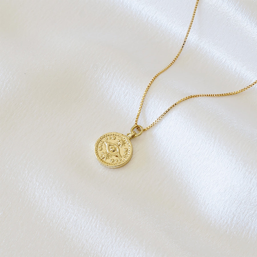 Evil Eye Coin Necklace - Dainty & Co. Jewelry
