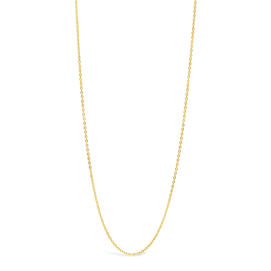 14k 16in Women's Dainty Flat Cable Chain Necklace - Dainty & Co. Jewelry