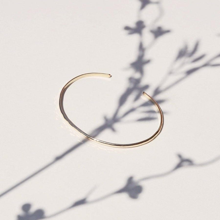Gold Hammered Cuff Bracelet - Dainty & Co. Jewelry