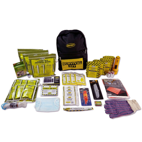 Mayday Emergency Survival 4 Person Deluxe Emergency Backpack Kits
