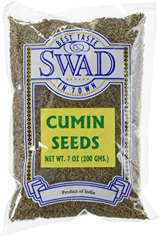 Great Bazaar Swad Cumin Seeds, 7 Ounce