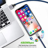 iPhone Charger, Nylon Braided Lightning Cable DABUSTAR 3Pack 6ft Fast Charging High Speed Data Sync Cord Phone Connector Compatible with iPhone 11 Pro MAX XS MAX XR XS X 8 7 Plus 6S iPad Mini Air Pro