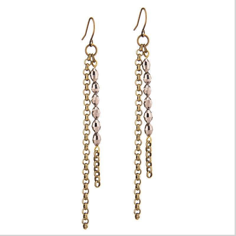 Basaltic Brass Earrings