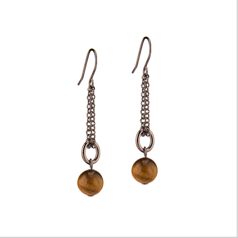 Adelaide Tiger Eye Earrings