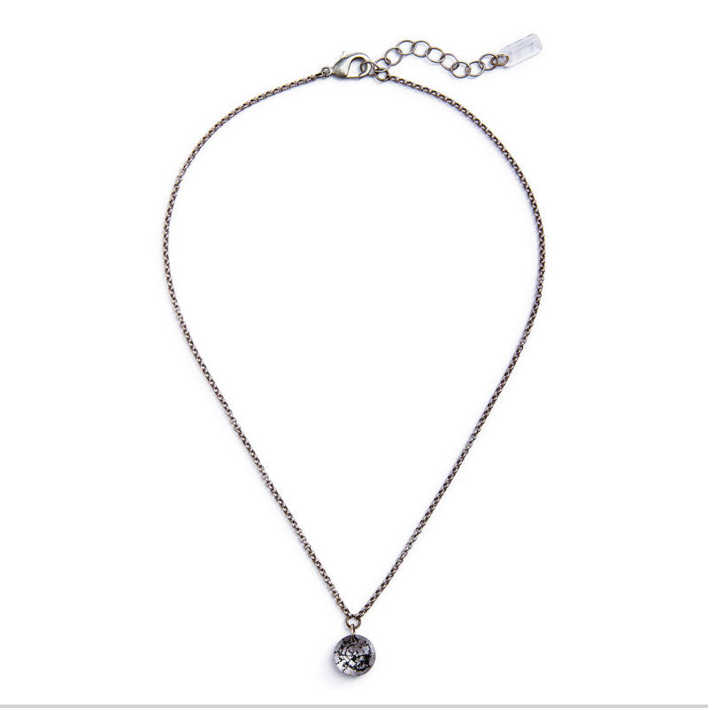 Maxine Silver Crystal Necklace