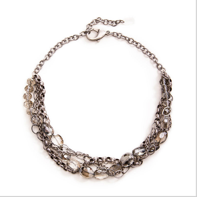Daphne Statement Necklace Silver