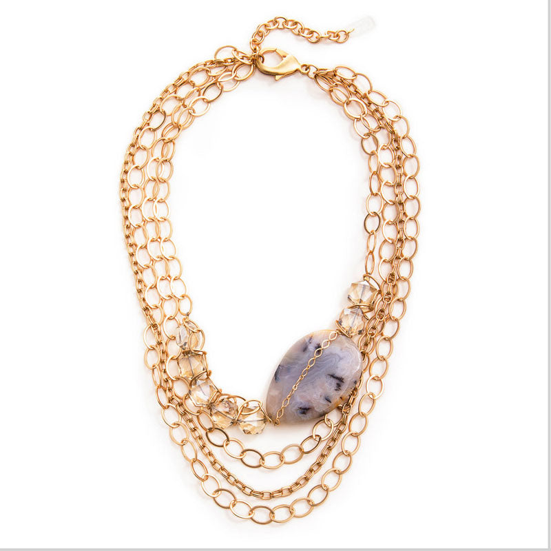 Chevalier Gold Statement Necklace