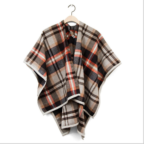 plaid wrap wool scarf