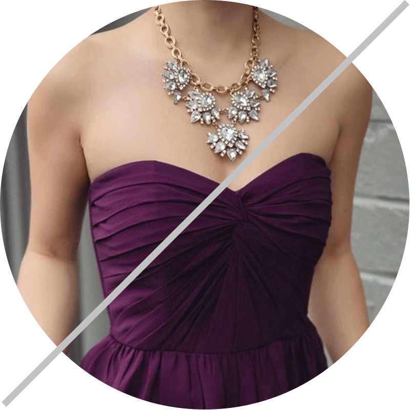 statement necklace formal