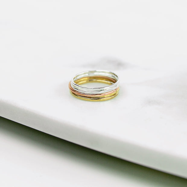Essential Stacking Ring Set - Mixed Metals