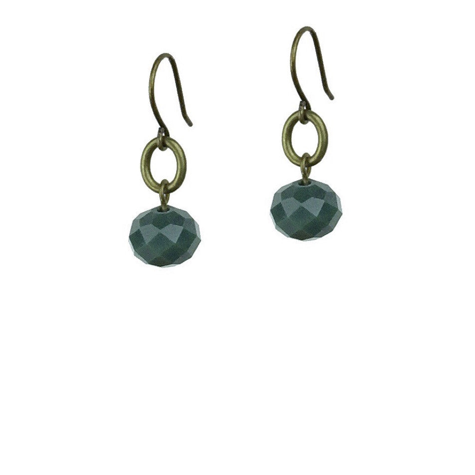 Abacus Earrings - Forest Green