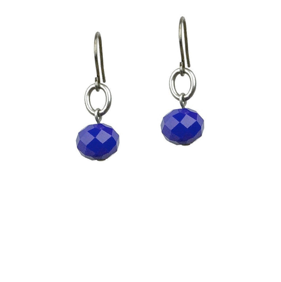 Abacus Earrings - Royal Blue