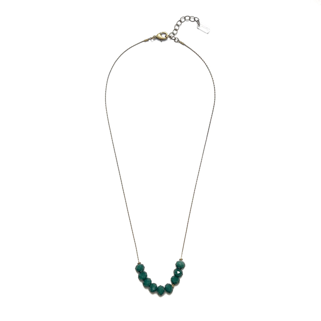 Abacus Necklace - Forest Green
