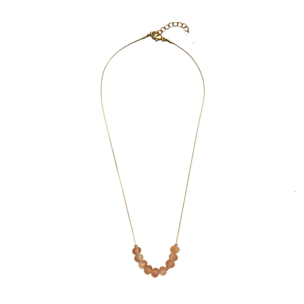 Abacus Necklace - Peach