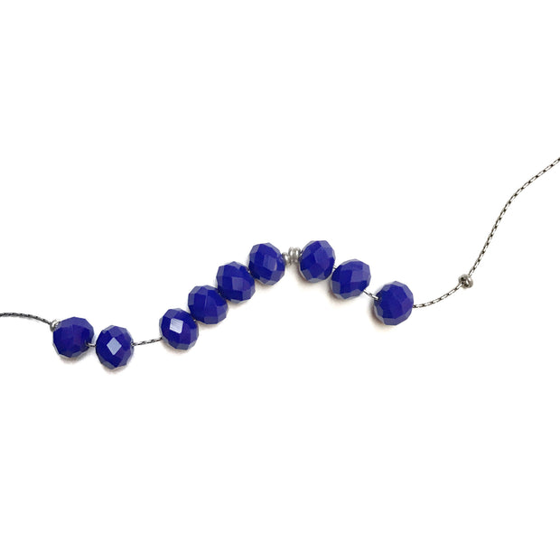 Abacus Necklace - Royal Blue