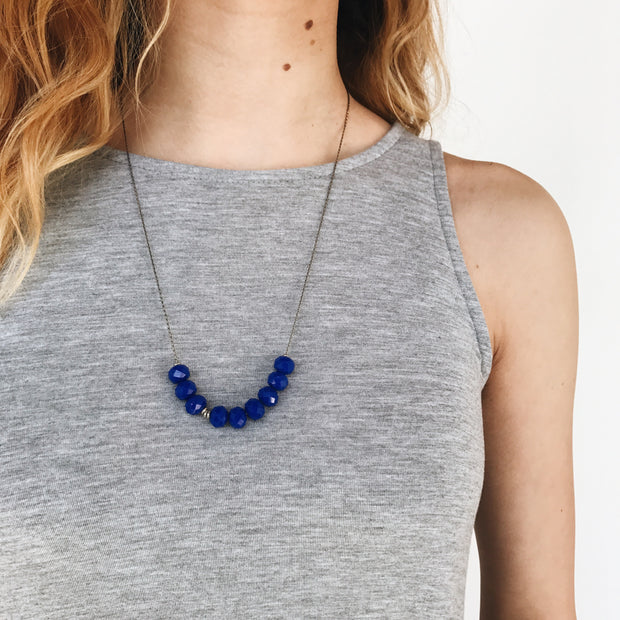 Abacus Necklace - Royal Blue 2