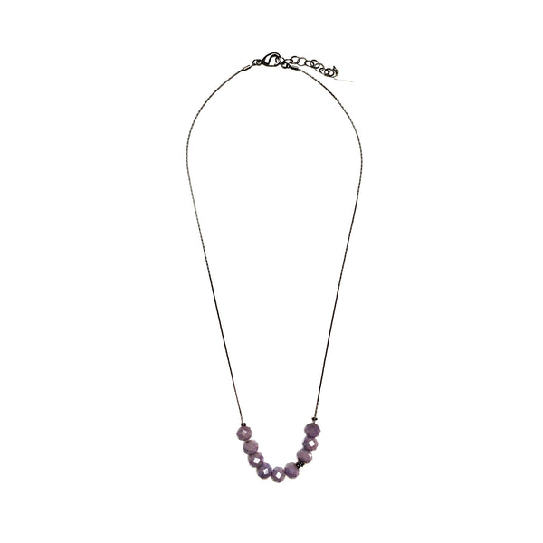 Abacus Necklace - Violet