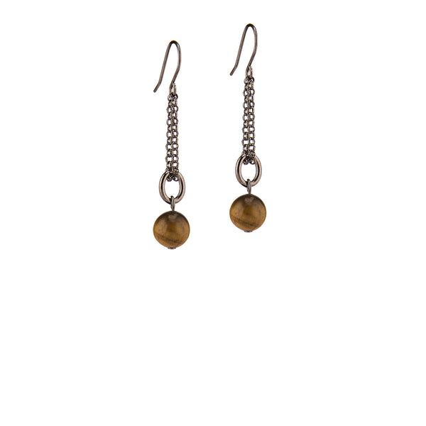 Adelaide Earrings - Gunmetal