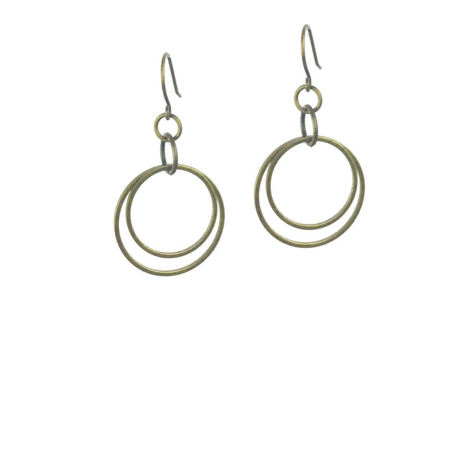 Andromeda Earrings - Brass