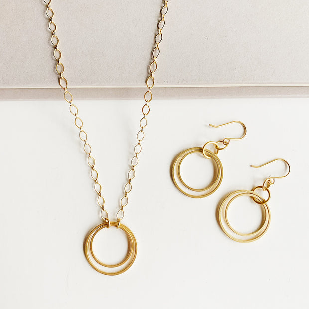 Andromeda Earrings + Necklace Set - Gold