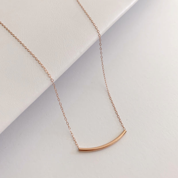 Arc Necklace - 14k Rose Gold Fill