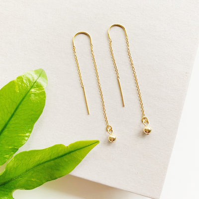 Aria Threader Earrings - 14k Gold Fill