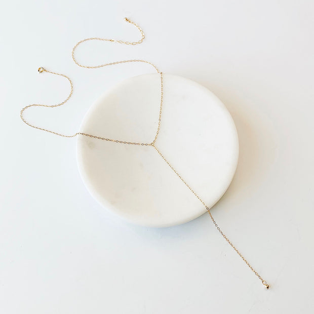 Aria Y-Necklace - 14k Gold Fill