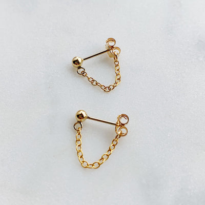 Aria Chain Cuff Earrings - 14k Gold Fill