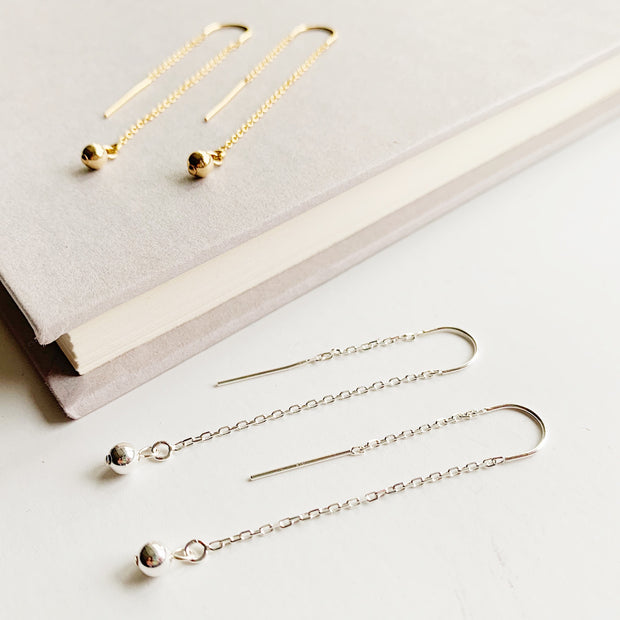 Aria Threader Earrings - Sterling Silver
