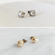 Audrey Pearl Stud Earring Duo Gift Set