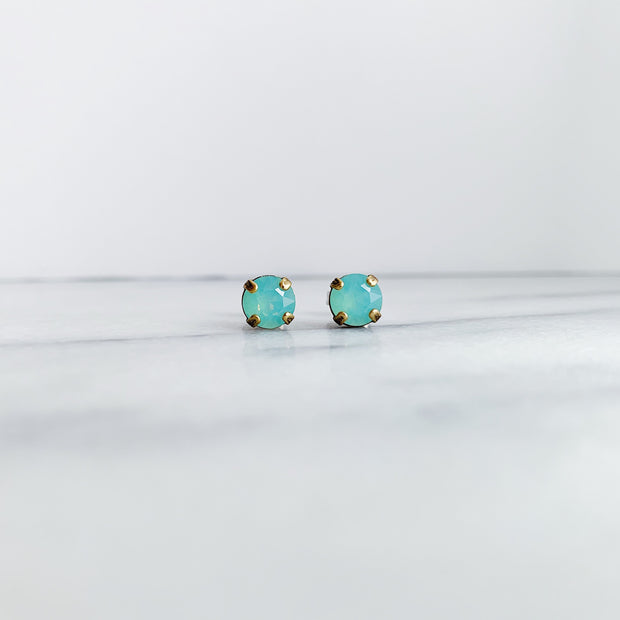 Audrey Swarovski Crystal Stud Earrings - Riviera