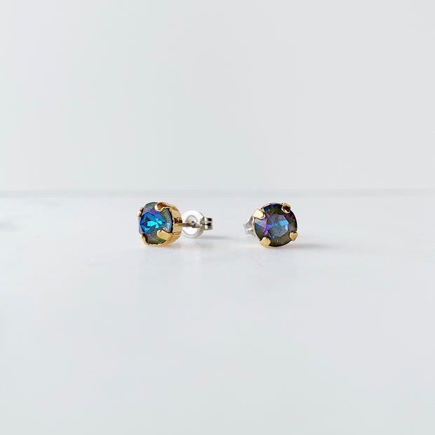 Audrey Swarovski Crystal Stud Earrings - Twilight