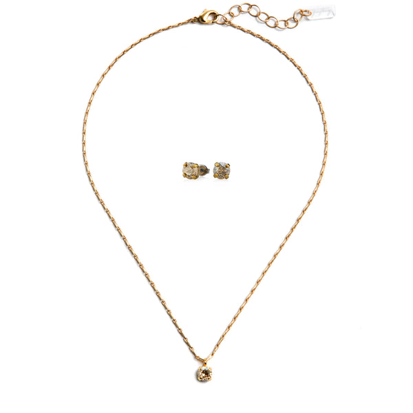 Audrey Swarovski Crystal Jewelry Set - Gold