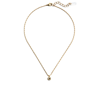 Audrey Swarovski Crystal Pendant Necklace - Gold
