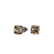 Audrey Swarovski Crystal Stud Earrings - Brass