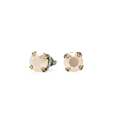 Audrey Swarovski Crystal Stud Earrings - Rose Gold
